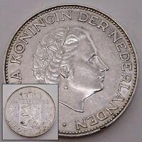 1960 Netherlands 2 1/2 Gulden - Queen Juliana Silver Coin
