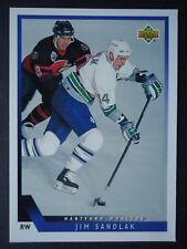 NHL 393 Jim Sandlak Hartford Whalers Upper Deck 1993/94