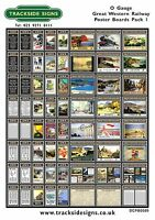 GWR Model Railway Posters / Adverts - O Gauge 7mm - Die Cut Self Adhesive