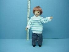 Dollhouse Miniature Modern Young Boy #G7648 Porcelain 1/12th Scale