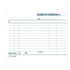 BLOCCO BUONI CONSEGNA CM.12X17 50 FG.CARTA CHIMICA 2 COPIE