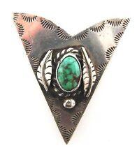 CLASSIC Silver & Turquoise Bolo Pendant
