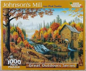 VTG 2004 White Mountain JOHNSON's MILL #278s Jigsaw Puzzle 1000p Great Outdoors
