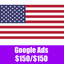 Google Ads USA code $150/$150. Google Adwords Pomotional credit