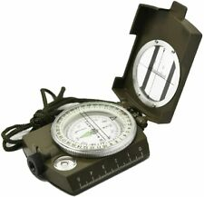 Prismatic Sighting Compass - Magnetic Waterproof Hand Held Professional Compass