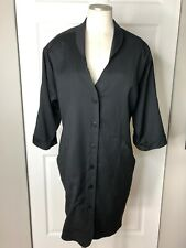 Marc Cain Womens 3 Black Wool 3/4 Sleeve Button Front Knee Length Shirt Dress P1