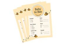 Bumble Bee Baby Shower Premium Prediction Advice Game Cards A6 Cute PACK OF 10