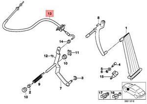 Genuine BMW Z3 E36 M3 3.2 Cabrio Coupe Accelerator Bowden Cable 35412228504