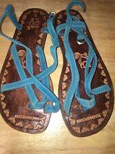 Machu Picchu Hand Made Leather Sandals Pisco Peru Size 8