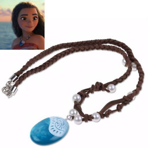 1PC Moana Necklace Costume Cosplay Props Princess Heart of Te Fiti Glowing Music