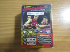 2002 AFL TEAMCOACH COMPLETE COMMON CARD SET 100 CARDS