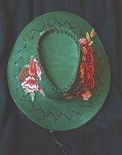 DARK OLIVE Green Cowboy Cowgirl SHOW HAT.Horse Show Dance WAS $35
