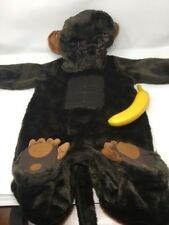 Animal Planet Monkey Ape Gorilla Plush Halloween Costume Unisex 12-18 Months