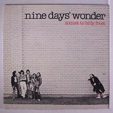 NINE DAYS' WONDER - SONNET TO BILLY FROST - NEW