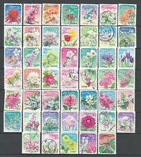˳˳ ҉ ˳˳R712-789 Japan Japon Prefectural Flower Hometown ALL 10 SERIES 2008-11 日本