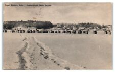 1952 Smelt Fishing Huts, Damariscotta Mills, Maine Postcard