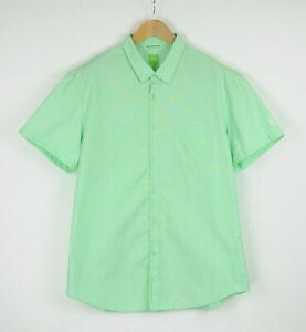 HUGO BOSS Green LABEL BLIBBO Men's XX LARGE Short Sleeve Green Shirt 40404-ES