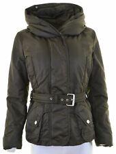MAX MARA Womens Padded Jacket UK 10 Small Khaki Nylon  MZ15