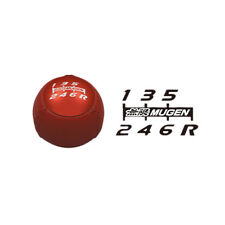 MUGEN LEATHER GEAR SHIFT KNOB RED M10 X 1.5 FOR HONDA
