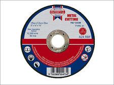 "FAITHFULL 125mm (5"") x 3.2 x 22mm BORE CUT OFF DISC FOR METAL x 2 Discs"