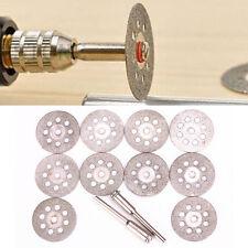 One Set of Rotary Tool Circular Saw Blades Cutting Wheel Discs Mandrel Cutoff