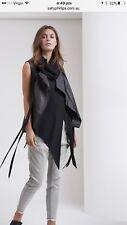 Sally Phillips Leather Vest Sz 12