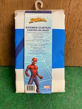 New Spiderman Fabric Shower Curtain Bathroom Bath Marvel Comics Striped Decor