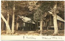 Belgrade Lakes ME North Pond Camps Judge's RPPC Real Photo Postcard