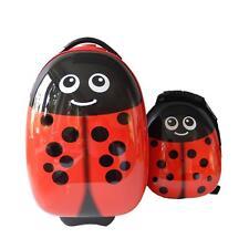 FERGÉ 1 Kinder-Trolley & 1 Rucksack Kinder Handgepäck-Koffer Rollen Käfer