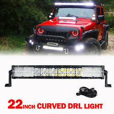 DRL 22inch CREE 280W Curved Dual Row LED LIGHT BAR SPOT FLOOD CROSS MASK DRIVING
