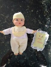 Cute Baby Doll With Yellow Pajamas+Sweet Dreams Pillow-Good Condition