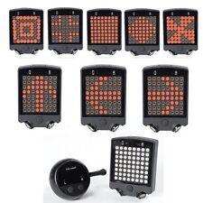 64 LED Bicycle Bike Rear Tail Laser Turn Signal Indicator Light Wireless Remote