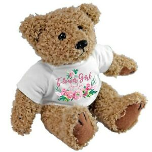Personalised Teddy Bear for Bridesmaids Flower Girls Ideal Wedding Favour Gift