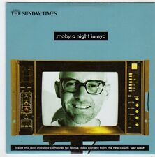 (FI580) Moby, A Night In NYC - 2008 The Sunday Times CD