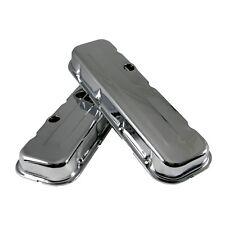 Short Chrome Steel Valve Covers - Big Block 396 402 427 502 BBC Chevy 454