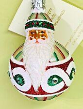 "Patricia Breen Mini Hollstrom Santa Red Green Swarovski Crystals 2003 #2380 3.5"""