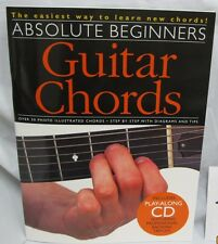 guitar chords absolute beginners with play along cd 50 illustrated chords