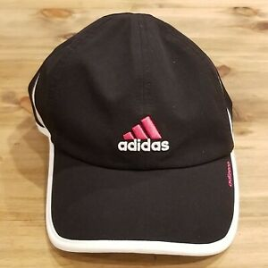 Adidas Black and Pink Adjustable One Size Strap Back Hat Clima Cool Womens