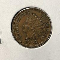 1900 1c INDIAN HEAD CENT *NICE EXTRA FINE / AU 4 DIAMONDS COIN* LOT#AI49