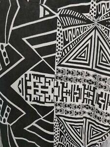 Bench Bandana Long Black & White Scarf