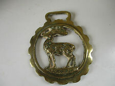 ANTIQUE Victorian CAST HORSE BRASS Stag great collectable