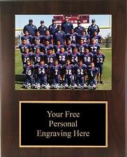 9x12 Personalized Football Coach / Sponser Team Photo Plaque - Free Engraving