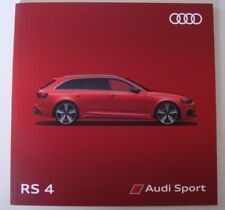 Audi . RS4 . Audi RS 4 . January 2018 . 2018 MY Sales Brochure