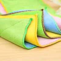 Bamboo Fiber Cleaning Dish Cloth Wash Towel Double Sided Useful Kitchen Supplies