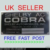 AC CARS SHELBY COBRA ID TAG REPLACEMENT REPLICA @ ALL-BLANK-VIN-CHASSIS-PLATES