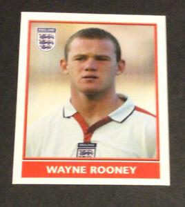 Rare Merlin England 2004 Unused Wayne Rooney Rookie Sticker MINT #200