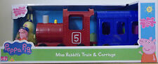 Peppa Pig ~ Miss Rabbit's Train And Carriage ~ Inc Miss Rabbit & Peppa Figures