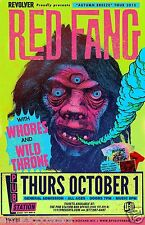 "Red Fang / Whores / Wild Throne ""Autumn Breeze Tour 2015"" Montana Concert Poster"