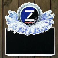 Original ZIMA COORS CHALKBOARD Beer Metal DOUBLE-SIDED Sign 1990s NOS
