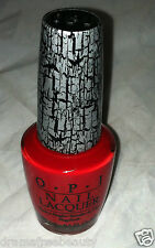 OPI Shatter Nail Polish Lacquer in * RED SHATTER * Crackle Effect Top Coat New